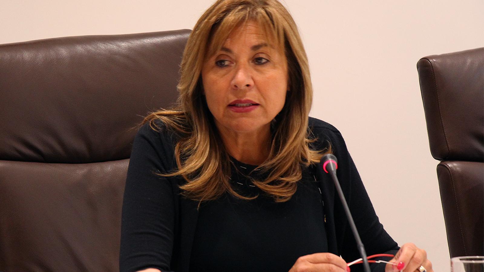 La cònsol major, Conxita Marsol, durant la sessió ordinària del consell de comú d'Andorra la Vella. / M. M. (ANA)