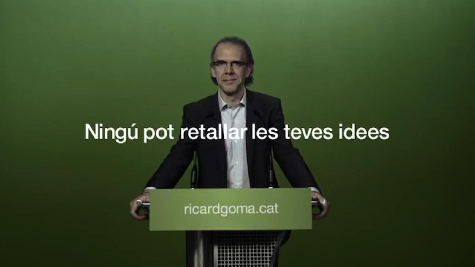 'Ningú pot retallar les teves idees', vídeo electoral d'ICV