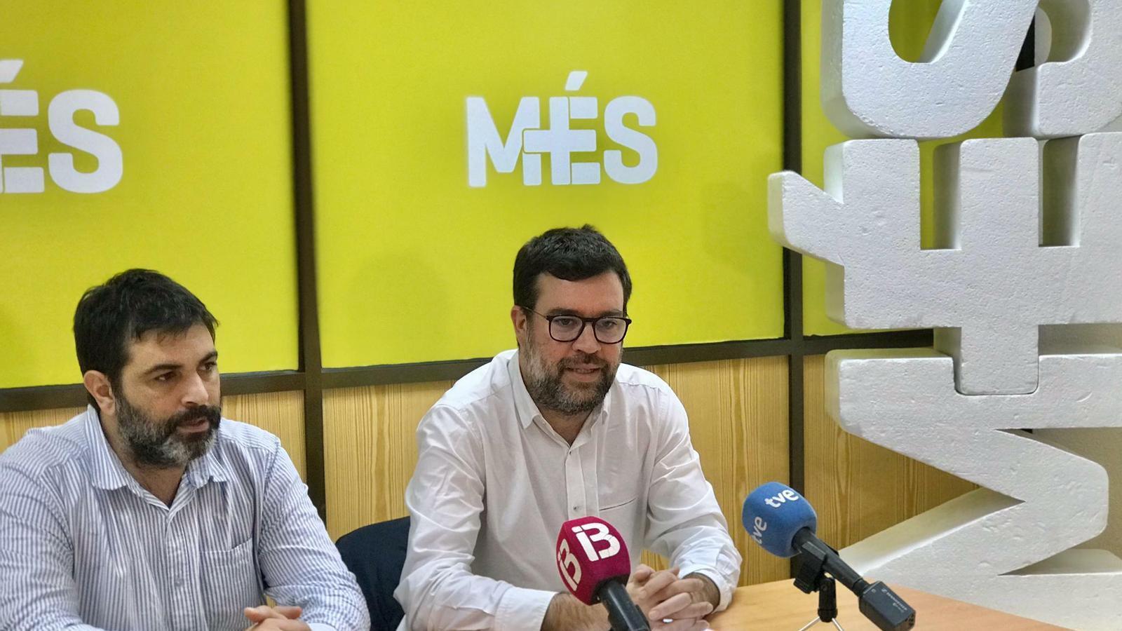 El diputat Josep Ferrà i el coordinador de MÉS per Mallorca, Toni Noguera