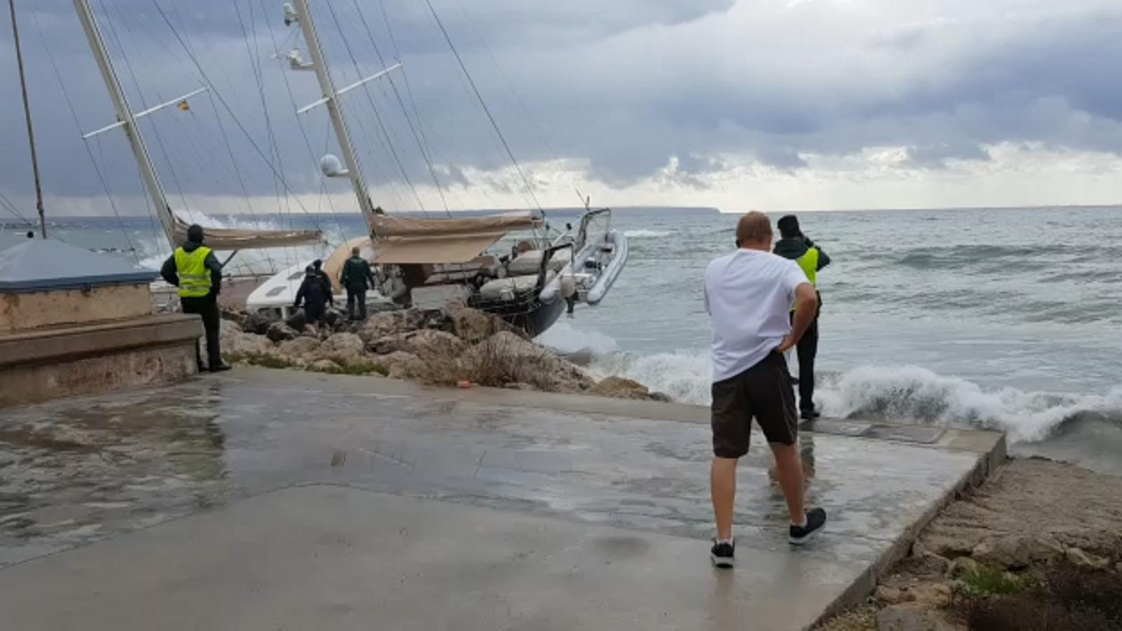 Leslie ha arribat debilitat a les Illes Balears