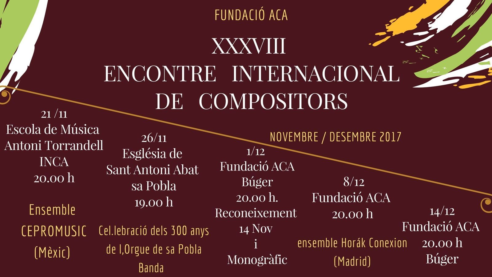 Cartell del XXXVIII Encontre Internacional de Compositors.