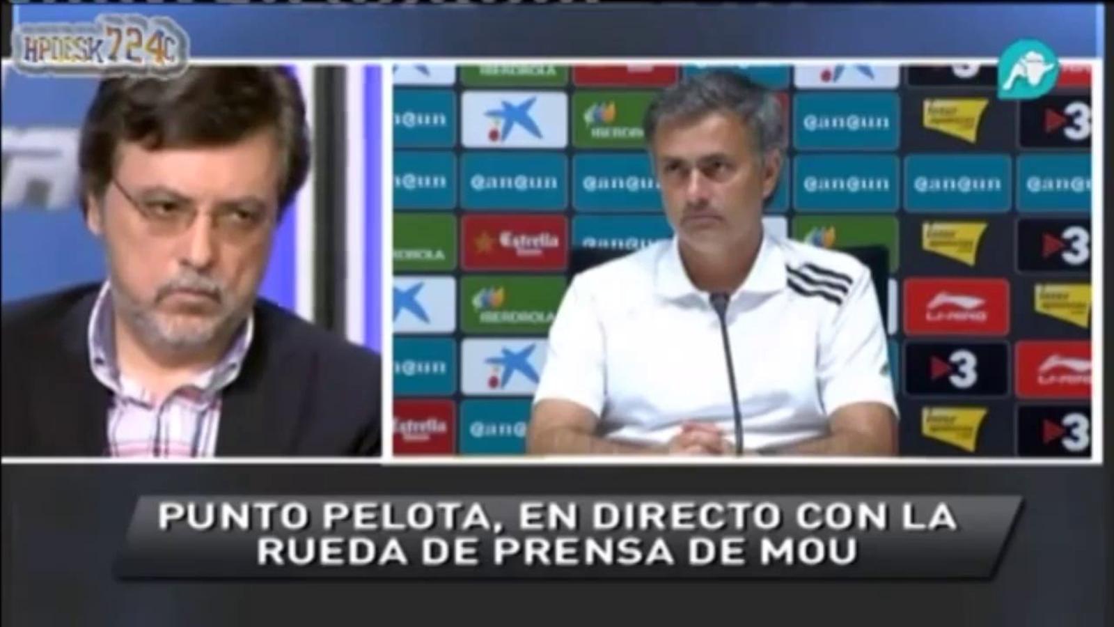 """La petició de Mourinho de ser preguntat """"en castellà"""" genera debat a Intereconomía"""