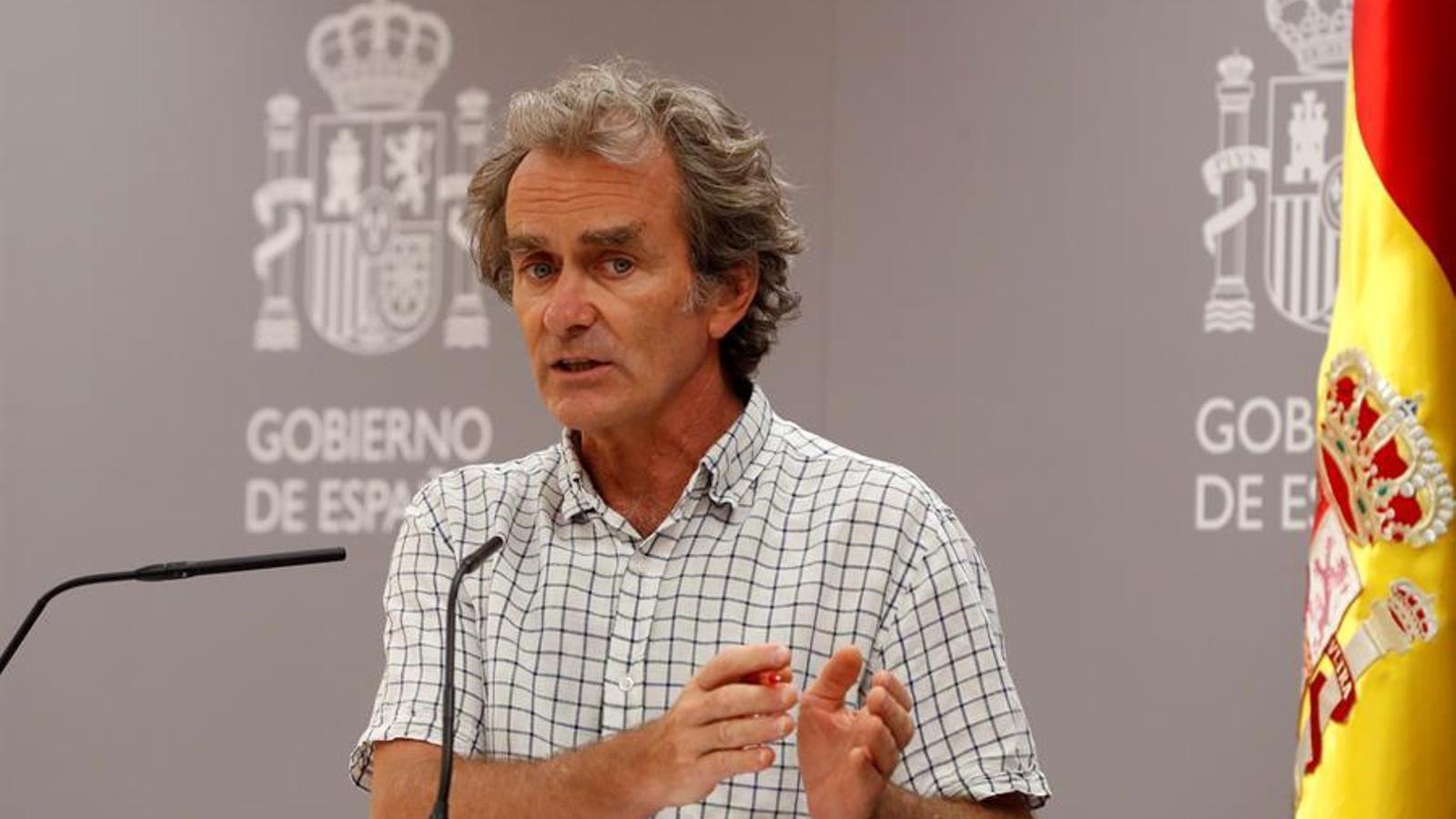 El director del Centre de Coordinació d'Alertes i Emergències Sanitàries, Fernando Simón, en roda de premsa