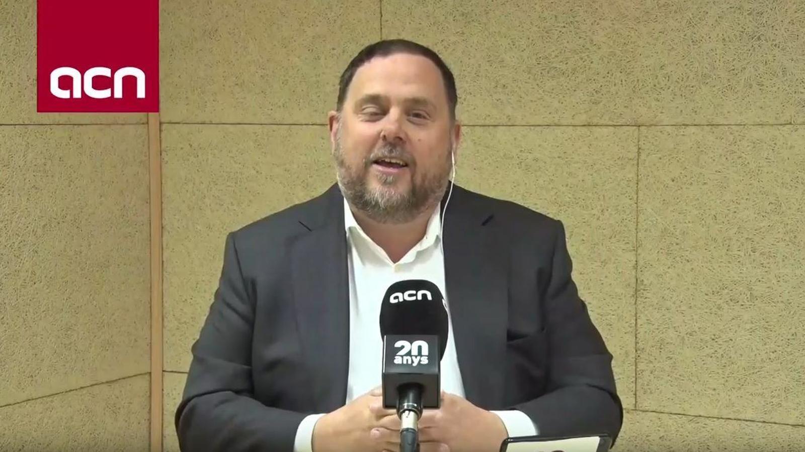 Roda de premsa d'Oriol Junqueras des de la presó de Soto del Real
