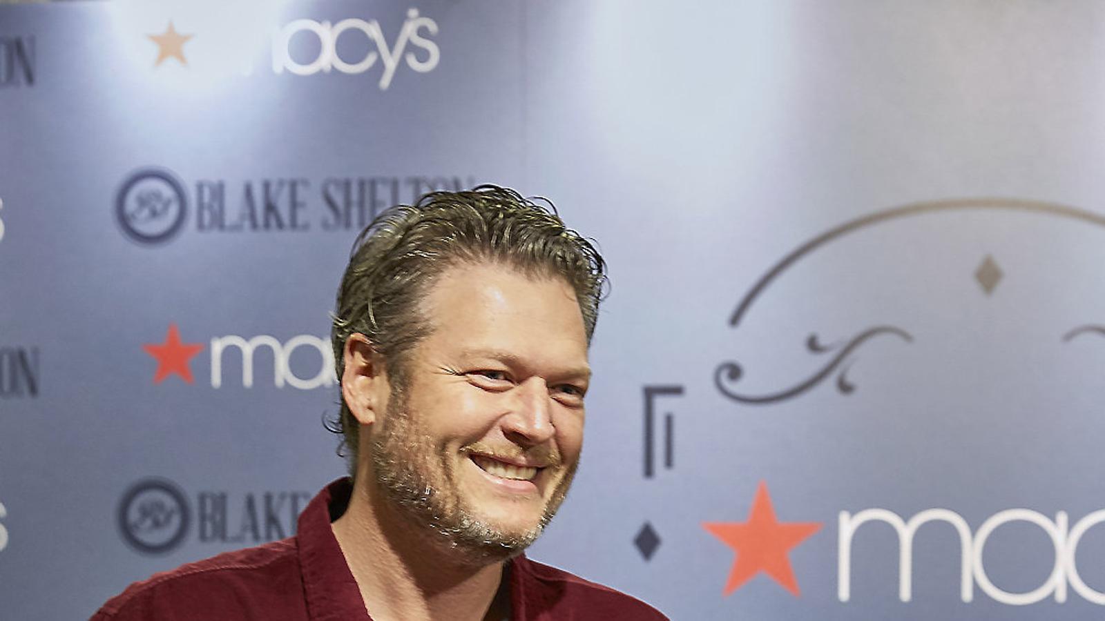 Blake Shelton durant la presentació de la línia de roba que ha batejat amb les seves inicials.