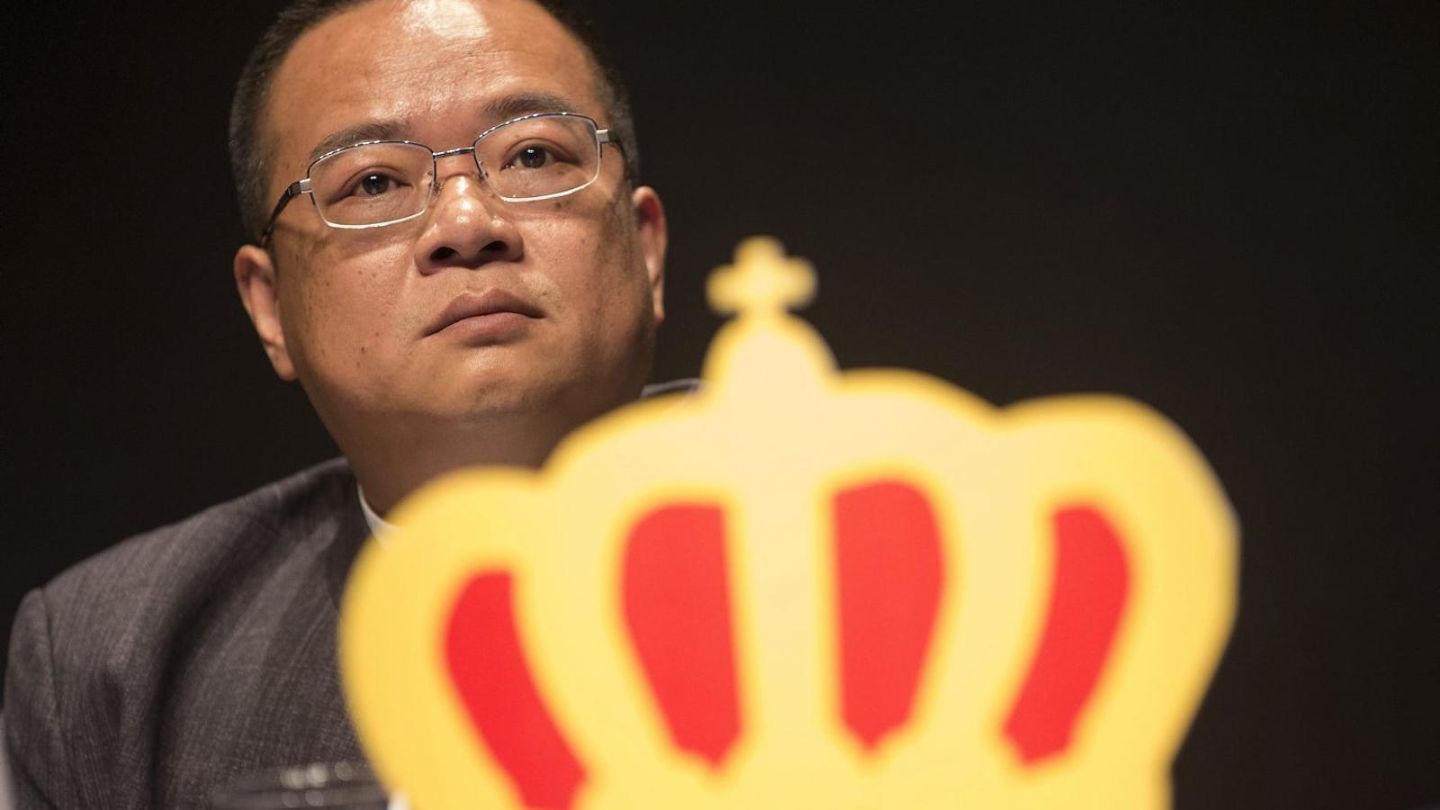 El president de l'Espanyol, Chen Yansheng, a la junta extraordinària d'accionistes en què va confirmar l'ampliació de capital.