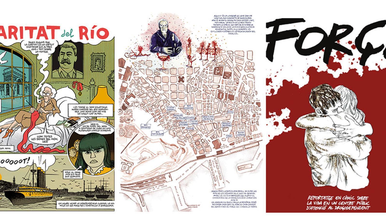 Imatges de les obres finalistes del Premi ARA de còmic en català