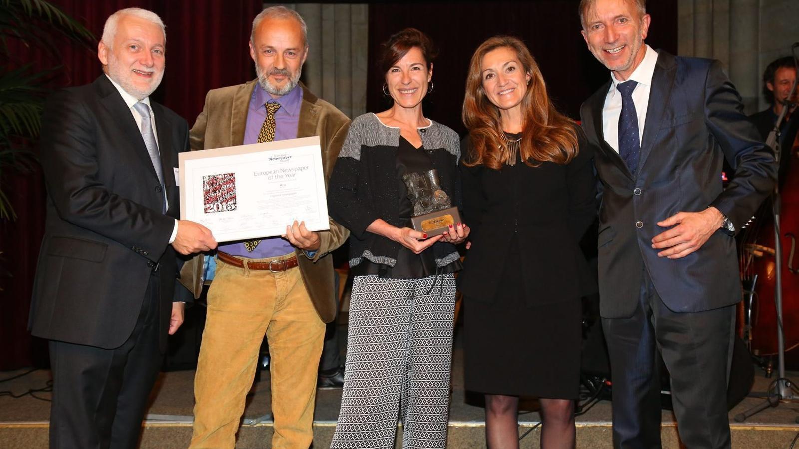 L'ARA recull a Viena el premi al Diari Europeu de l'Any
