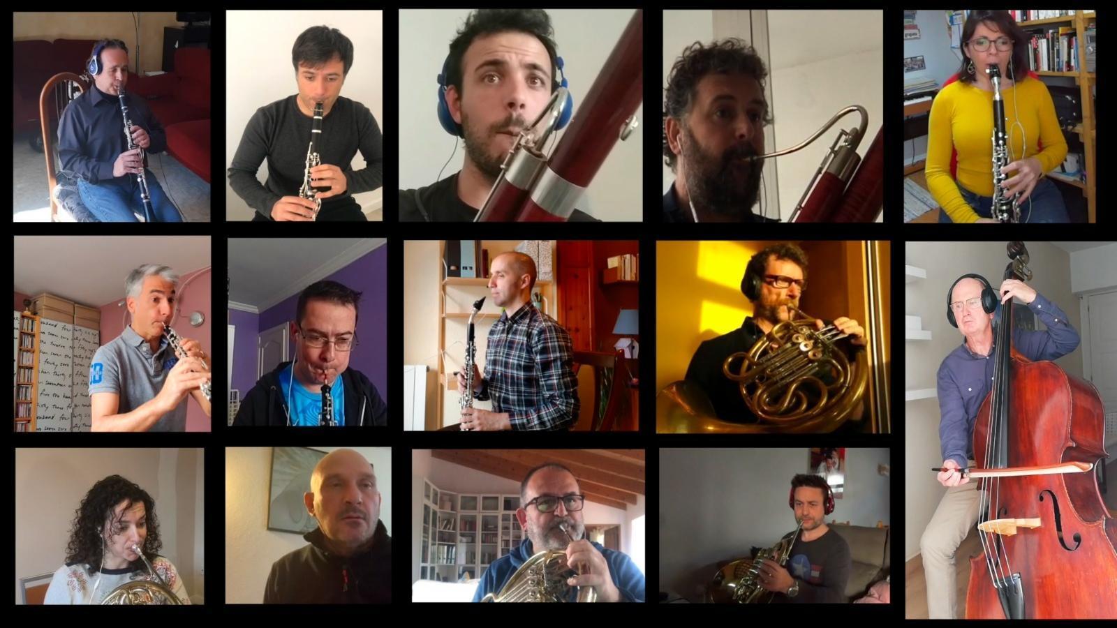 L'OSIB ha publicat un vídeo interpretant la 'Serenata núm. 10 Gran Partita'.