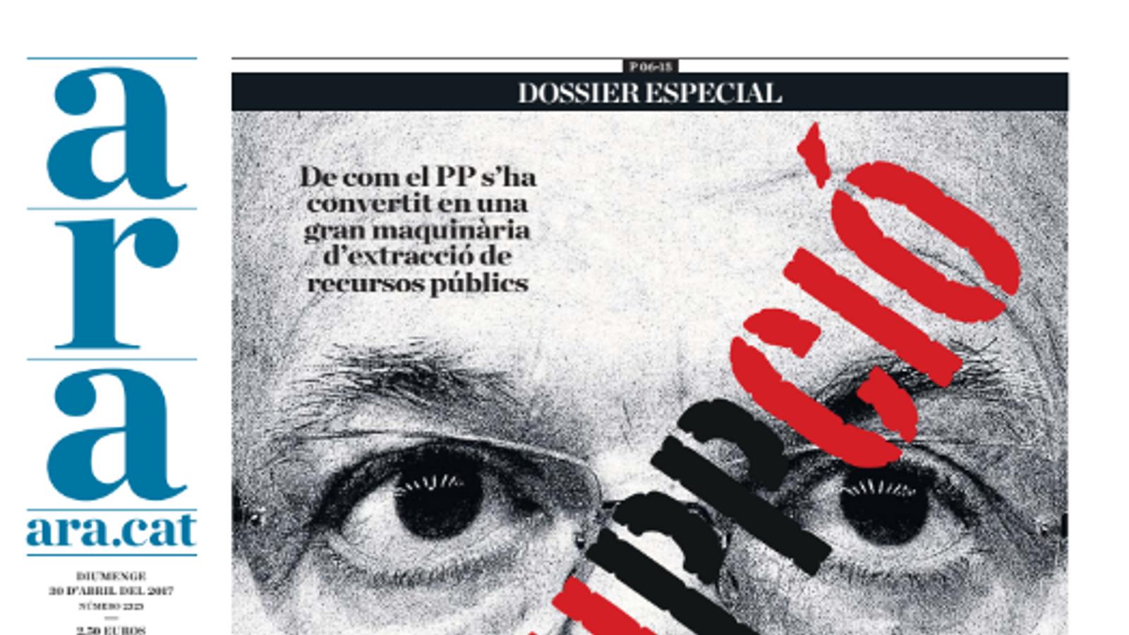 """""""Corruppció"""", dossier especial de l'ARA d'aquest diumenge"""