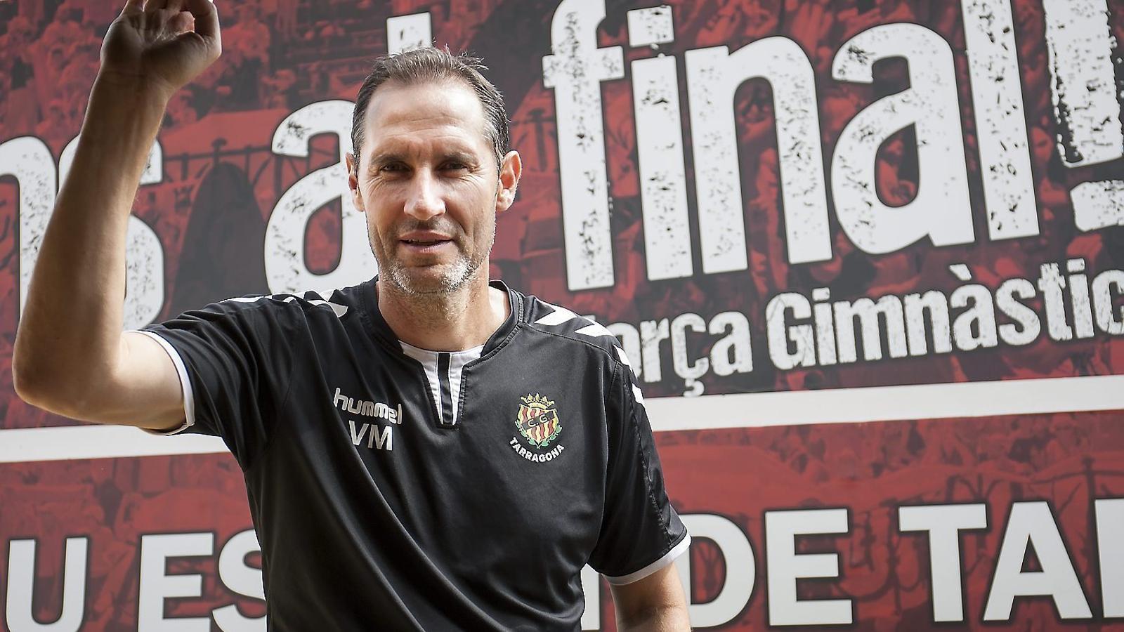 """Vicente Moreno: """"No sé quan, però estic convençut que el Nàstic acabarà pujant"""""""