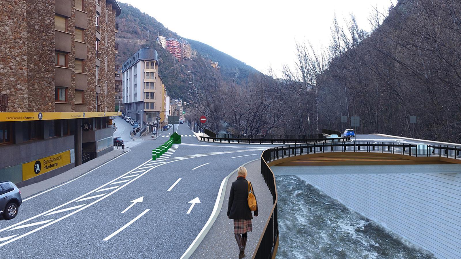 Simulació del futur enllaç de la desviació de Sant Julià de Lòria. / GOVERN D'ANDORRA