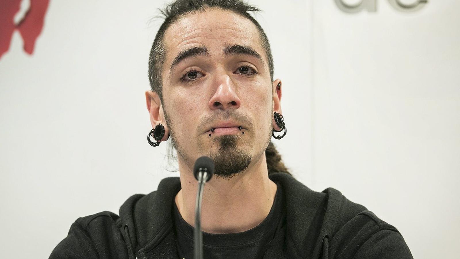 Rodrigo Lanza durant la roda de premsa de dimarts, en què va demanar que es reobri la investigació del cas 4-F.