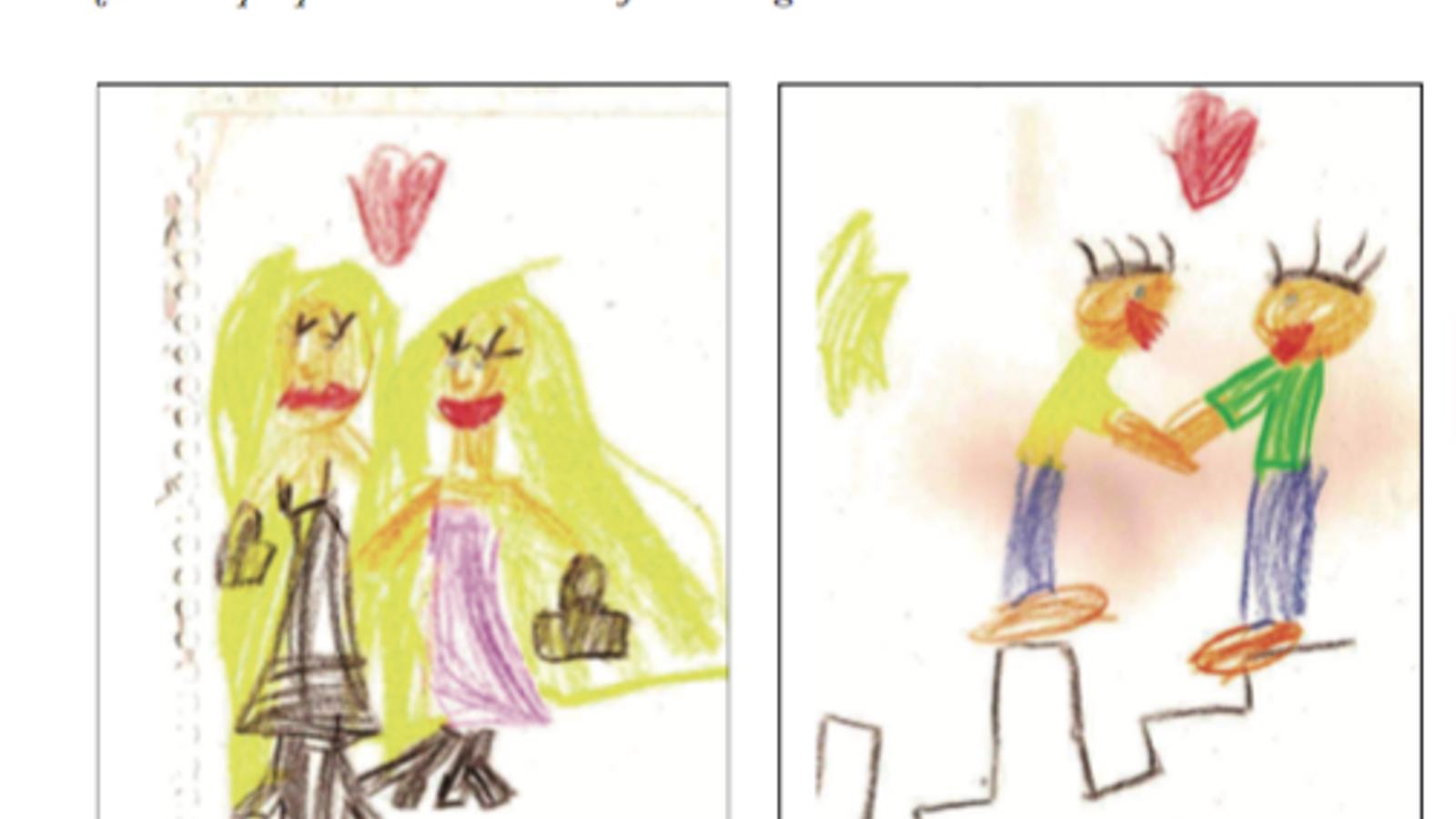 Una captura del llibre, on critiquen que s'ensenyin models de famílies amb dos pares o dues mares / ARA
