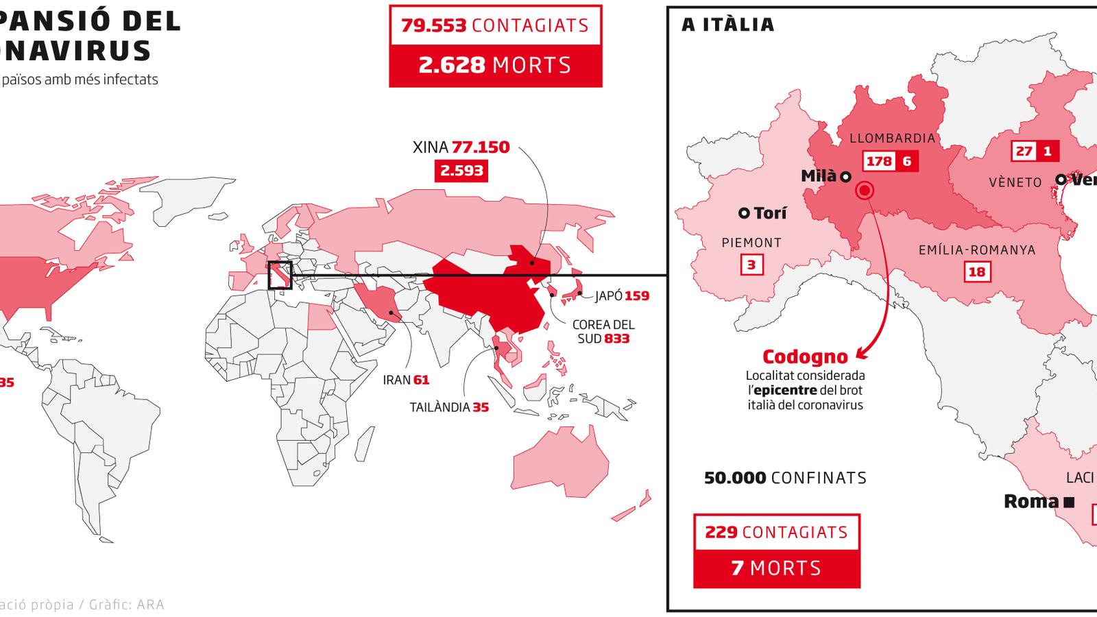 L'expansió del coronavirus