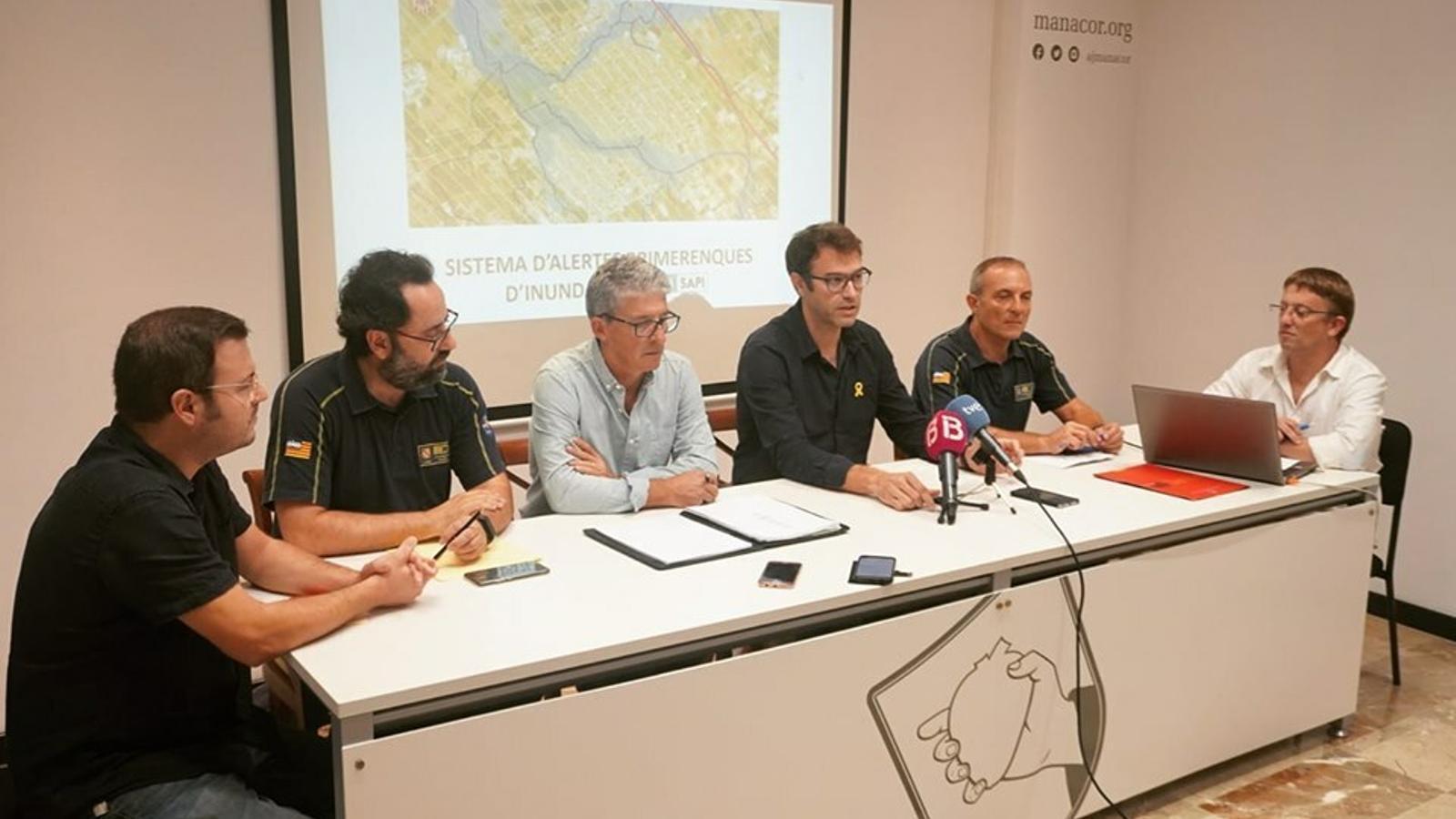 Presentació a Manacor del sistema d'alerta d'inundacions.