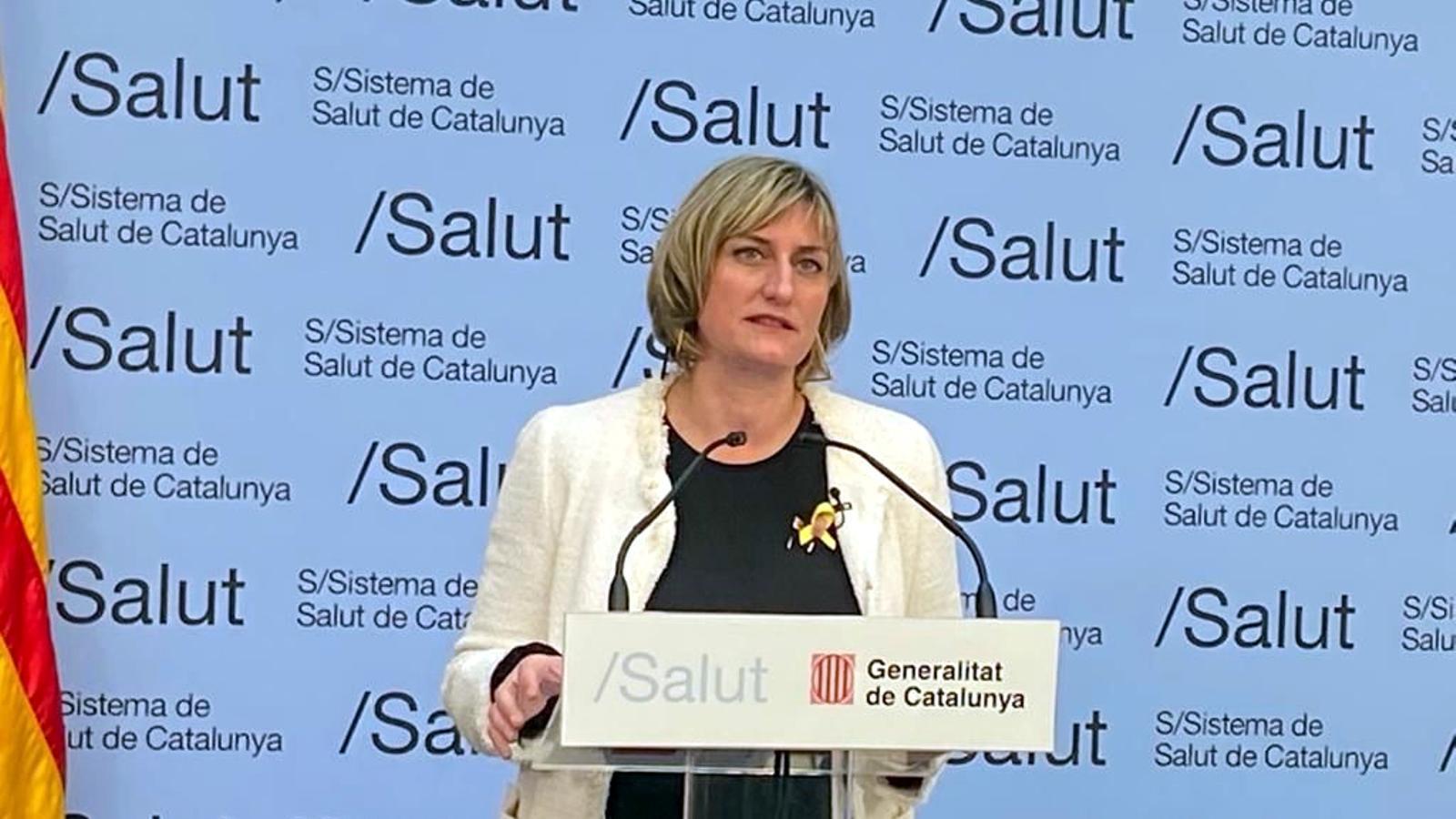 La consellera de Salut, Alba Vergés, en la roda de premsa per informar de l'evolució de la pandèmia de coronavirus