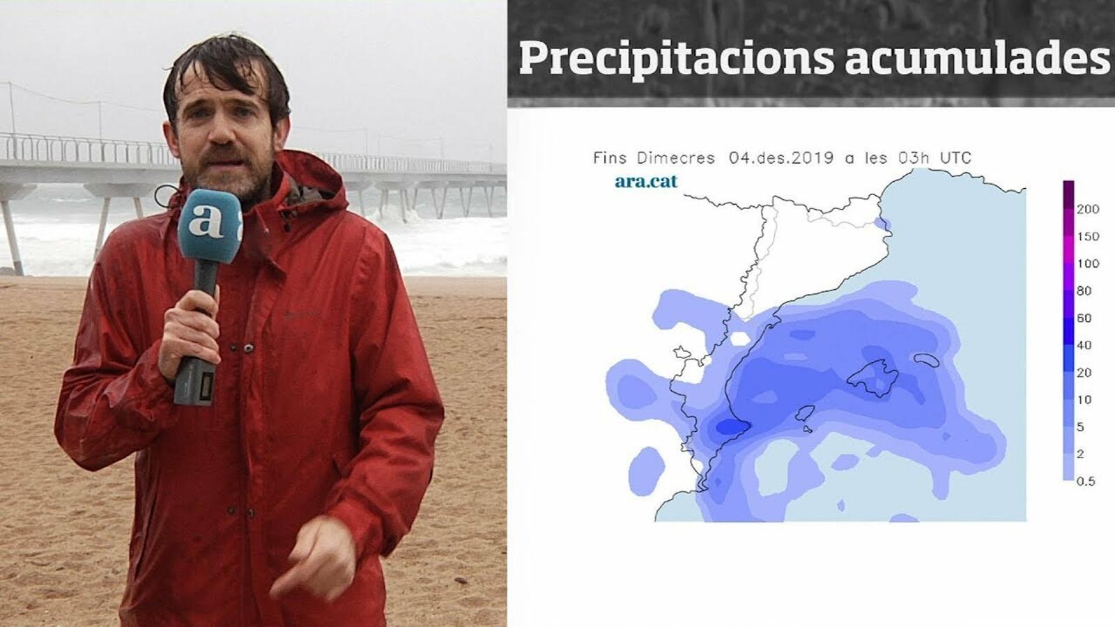 Méteo especial: onades de més de 6 metres i pluges que poden superar els 100 litres