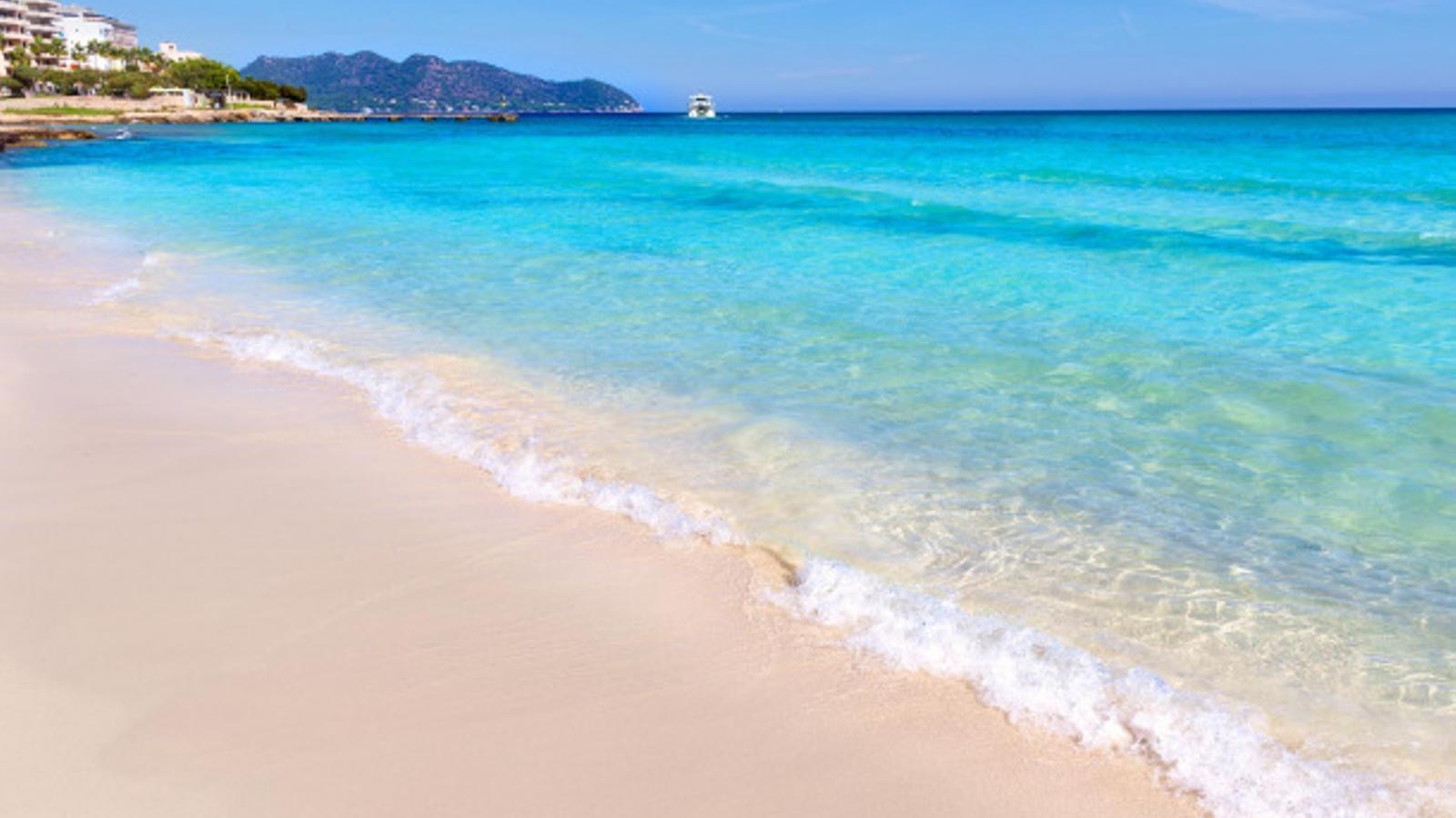 La platja de Cala Millor té un aspecte paradisíac aquest estiu.