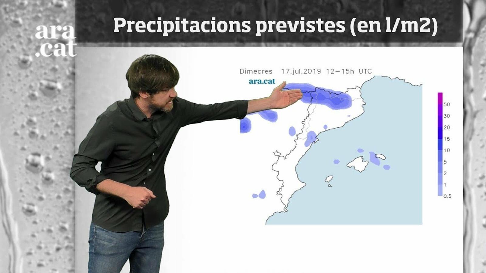 La méteo en 1 minut: dimecres amb xàfecs sobtats i tempestes