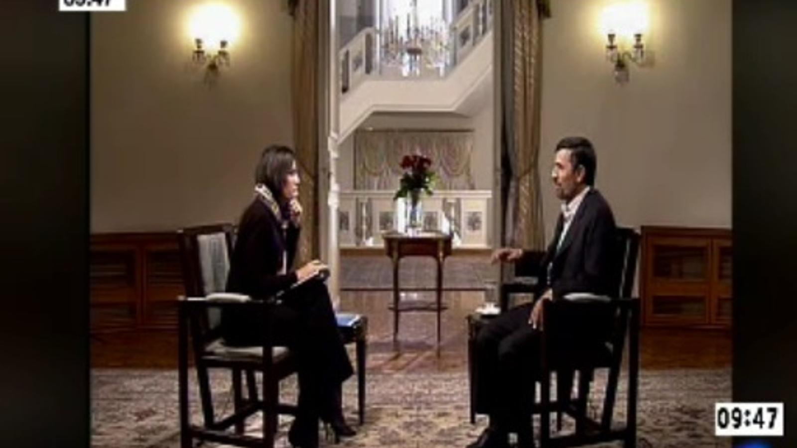 Fragment de l'entrevista d'Ana Pastor a Mahmud Ahmadinejad