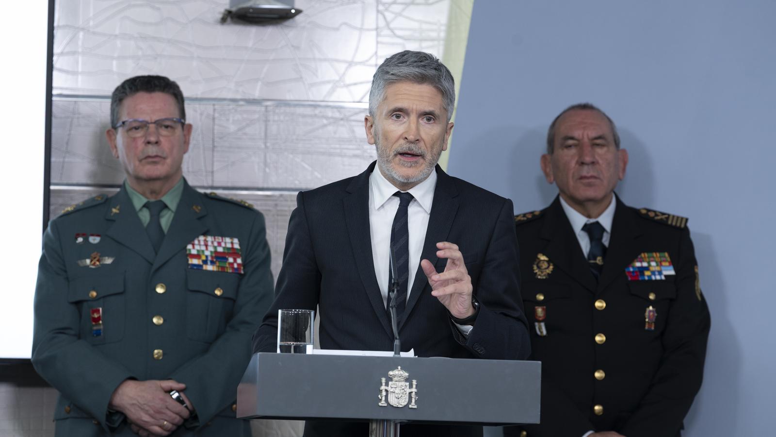 El ministre de l'Interior, Fernando Grande-Marlaska, durant una roda de premsa recent