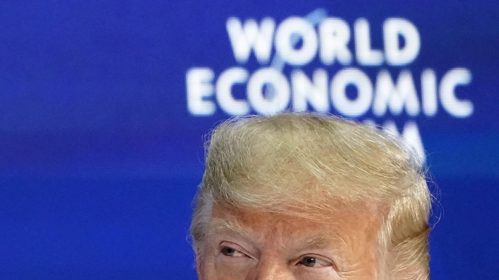 Donald Trump durant la seva participació en el fòrum econòmic de Davos, aquest dimarts.