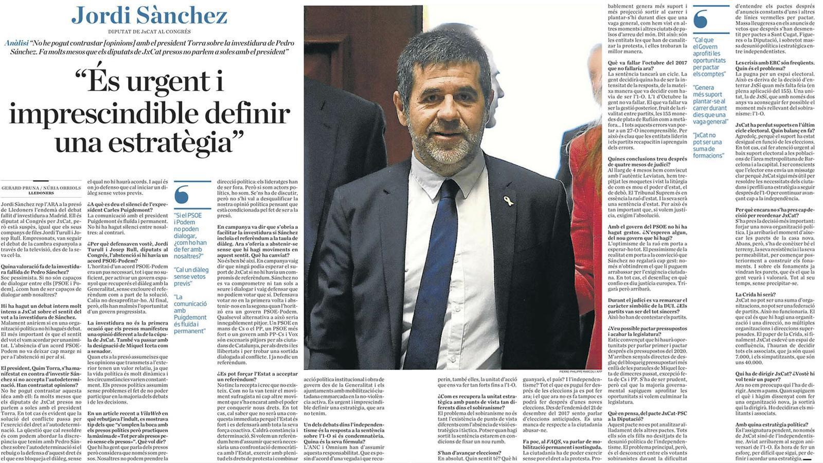 L'anàlisi d'Antoni Bassas: 'Jordi Sànchez: protestar, governar'