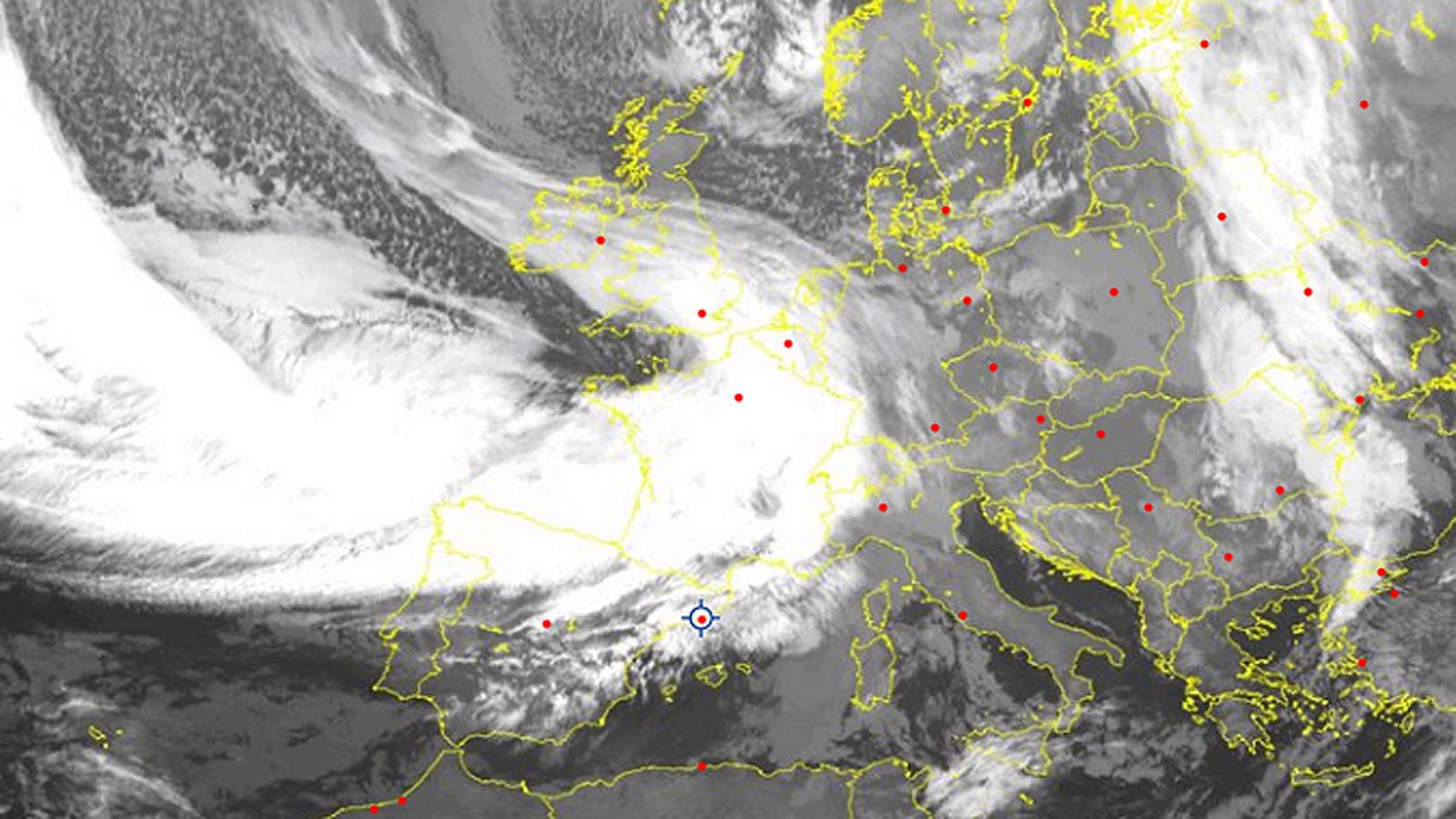 Imatge del Meteosat de diumenge al matí / EUMETSAT (SAT 24)