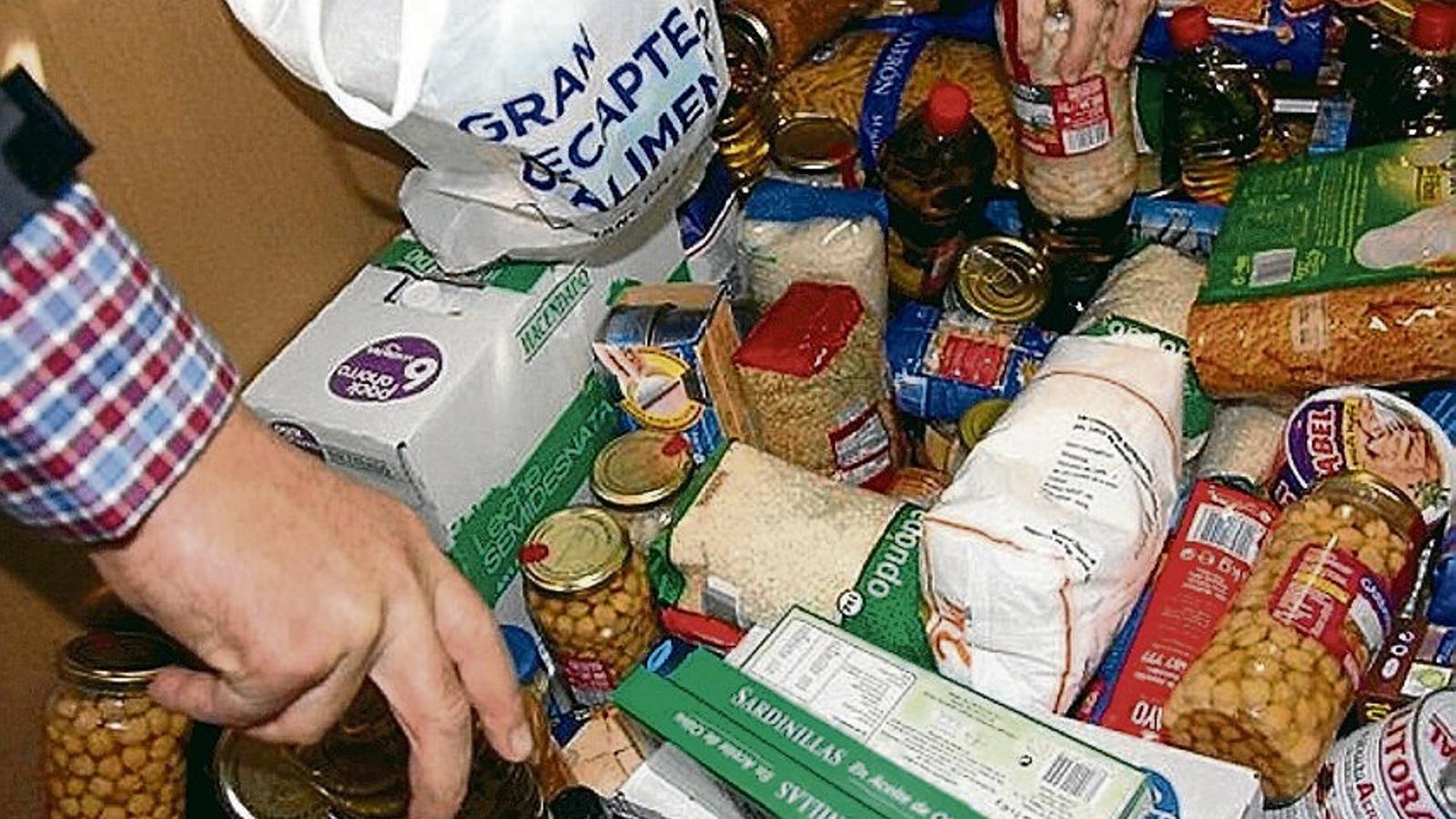 El Banc d'Aliments reparteix cada dia més de sis tones de menjar a Mallorca