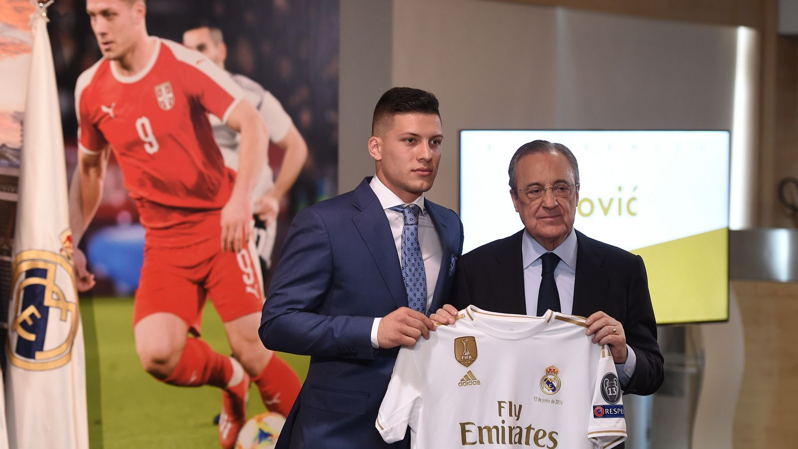 Luka Jovic i Florentino Pérez