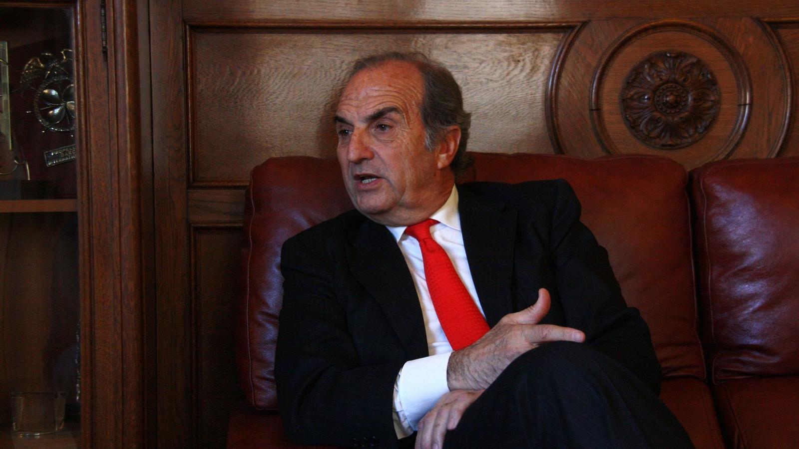 El president de Foment, Joaquim Gay de Montellà, té pressa perquè el govern espanyol demani el rescat definitiu.