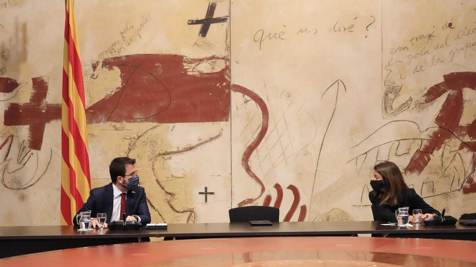 Aragonès ja és oficialment el president substitut