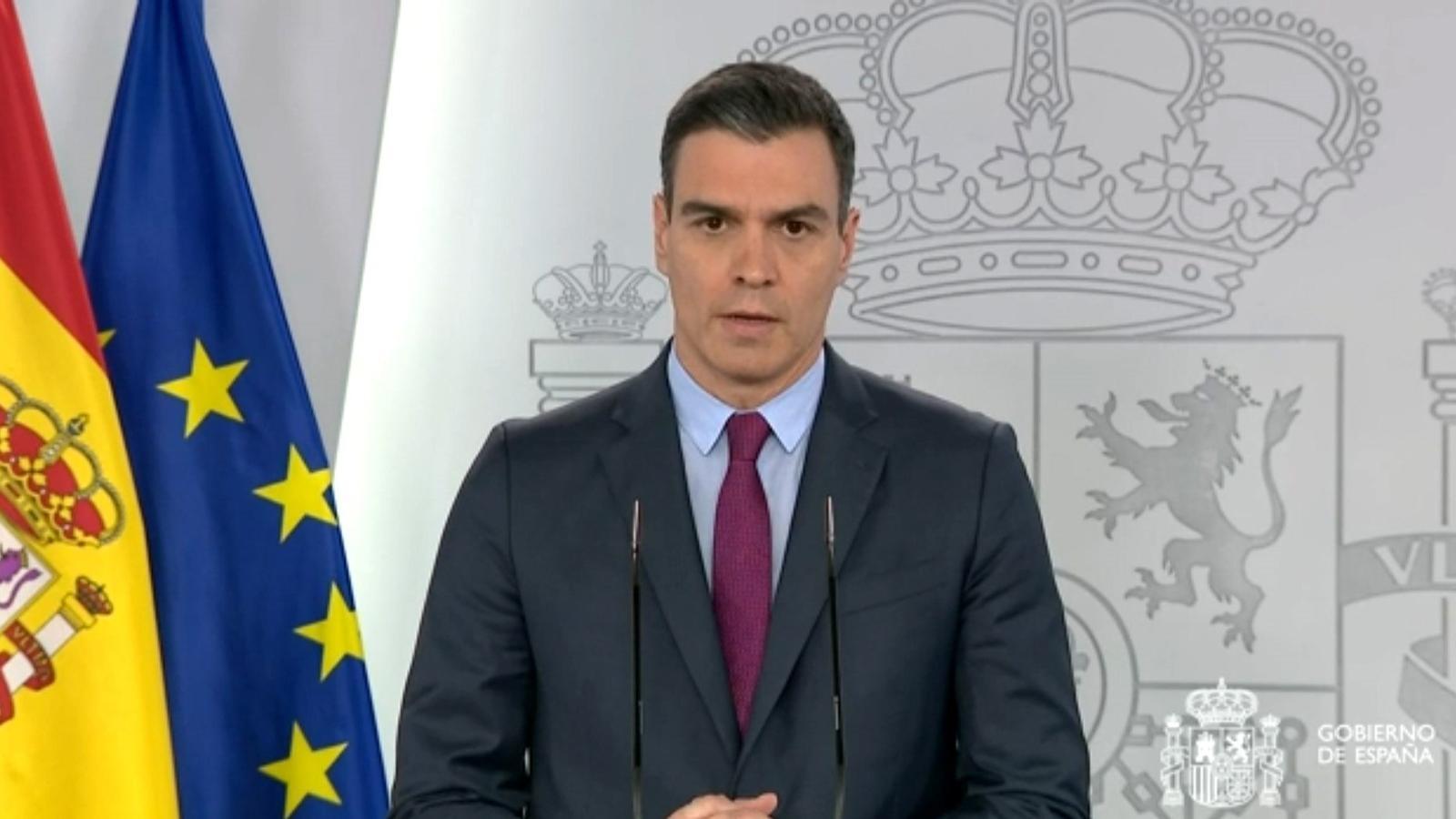 El president espanyol, durant la seva compareixença d'aquest dimarts