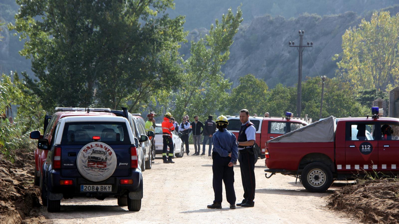 Imatges dels equips de rescat durant les tasques a finals d'octubre, a Vilaverd