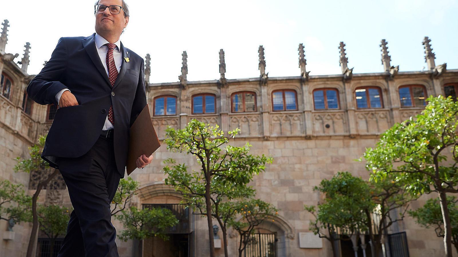 El president de la Generalitat, Quim Torra, al Palau de la Generalitat.