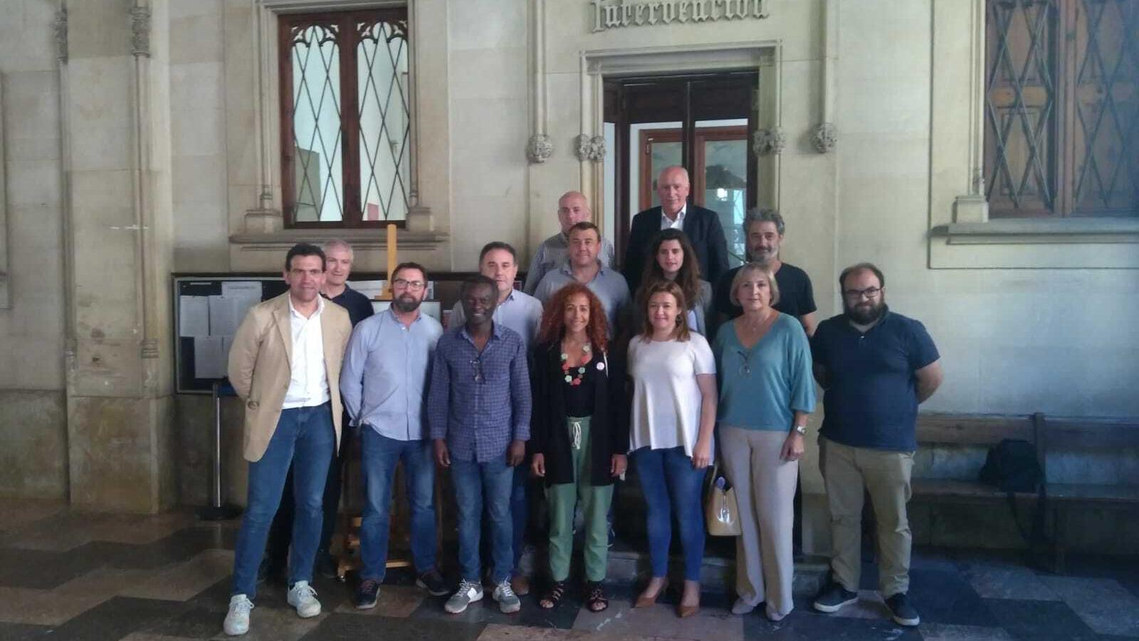 Els batles dels municipis de Tramuntana després de la reunió.