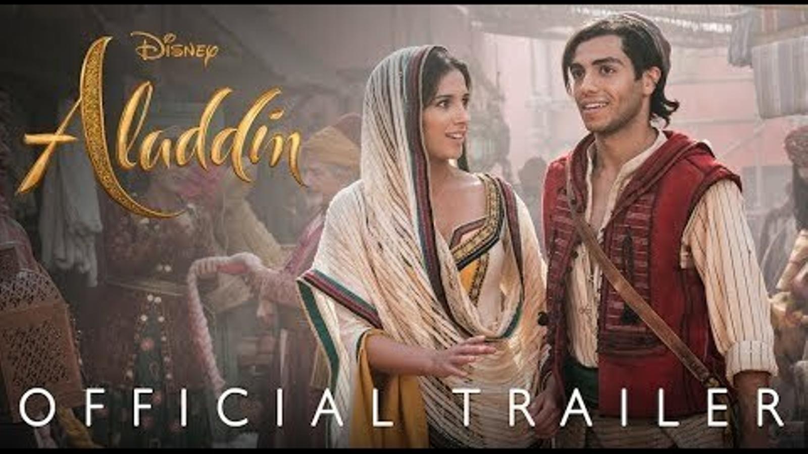 Primer tràiler d'Aladdin amb personatges reals