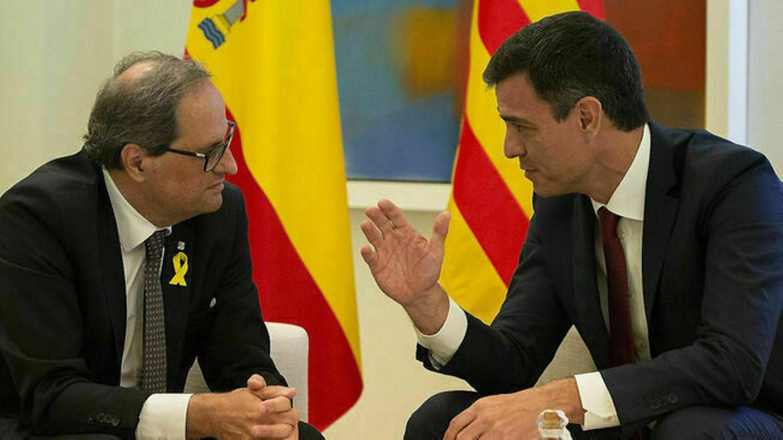 Torra contesta la carta de Sánchez i l'emplaça a reunir-se avui aprofitant la seva visita a Barcelona