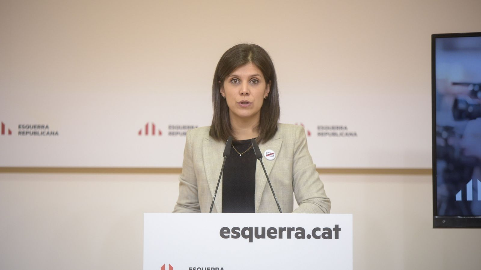 La secetària general adjunta d'ERC, Marta Vilalta, aquest dilluns.