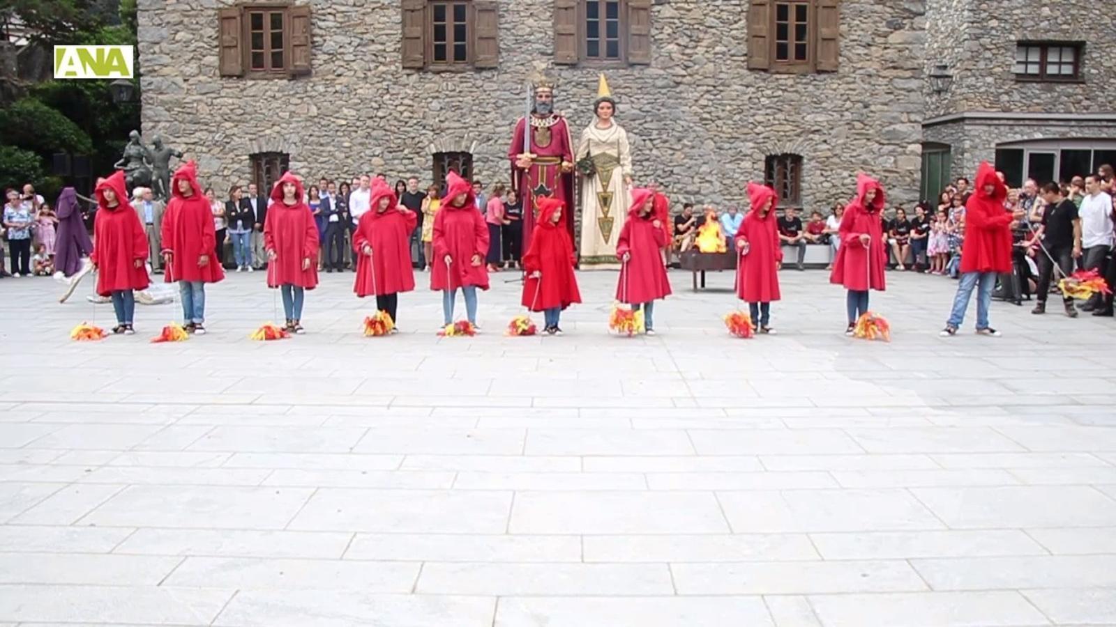 La flama del Canigó a Andorra la Vella