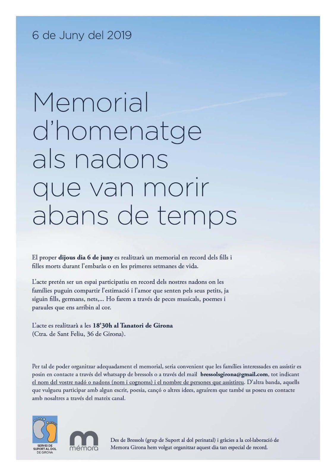 Memorial d'homenatge als nadons que van morir abans de temps