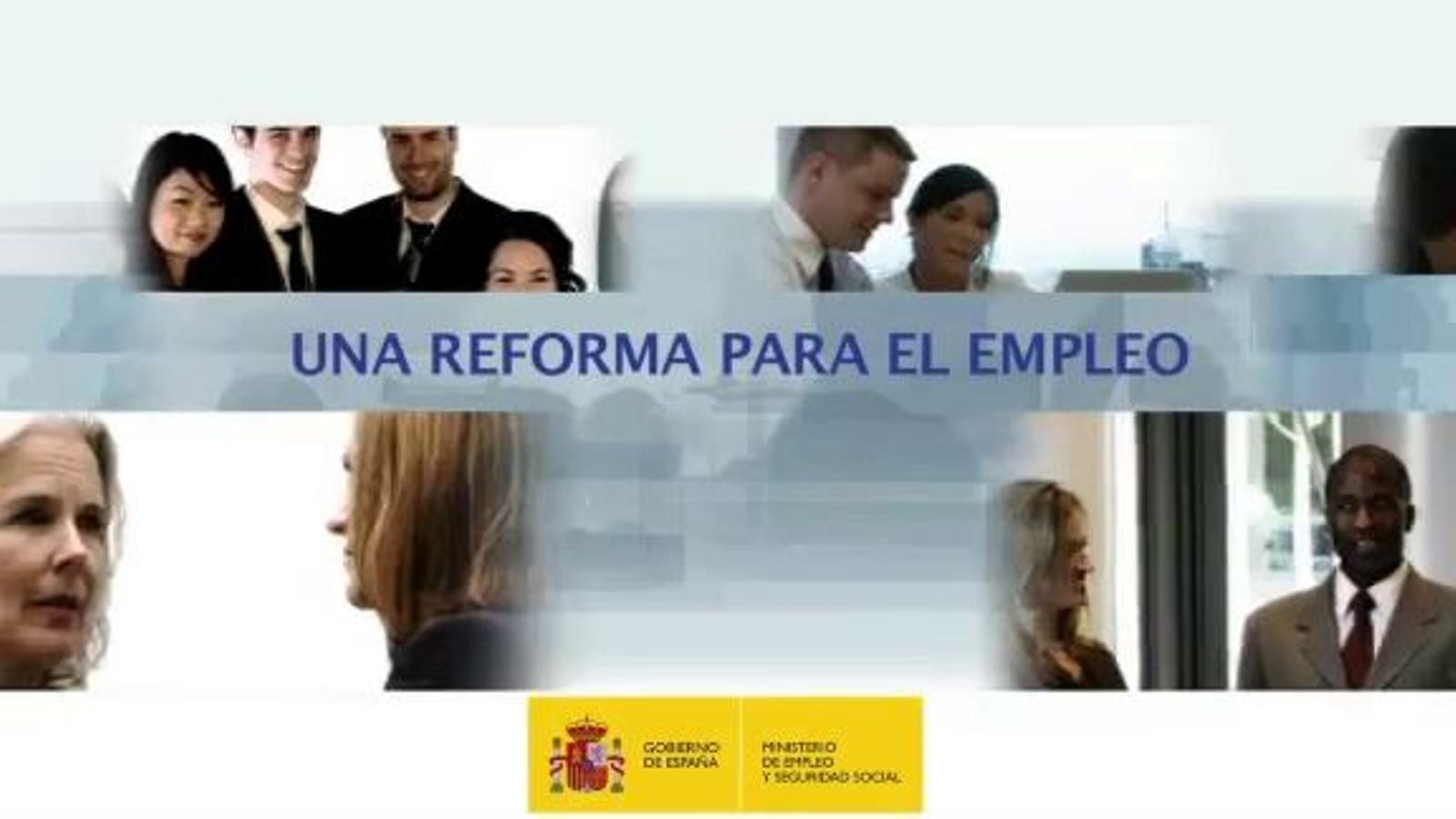 El govern espanyol respon als sindicats amb un vídeo propagandístic sobre la reforma laboral