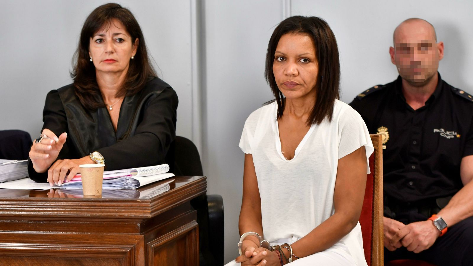L'autora confessa de l'assassinat, Ana Julia Quezada, en la primera sessió del judici d'aquest dilluns