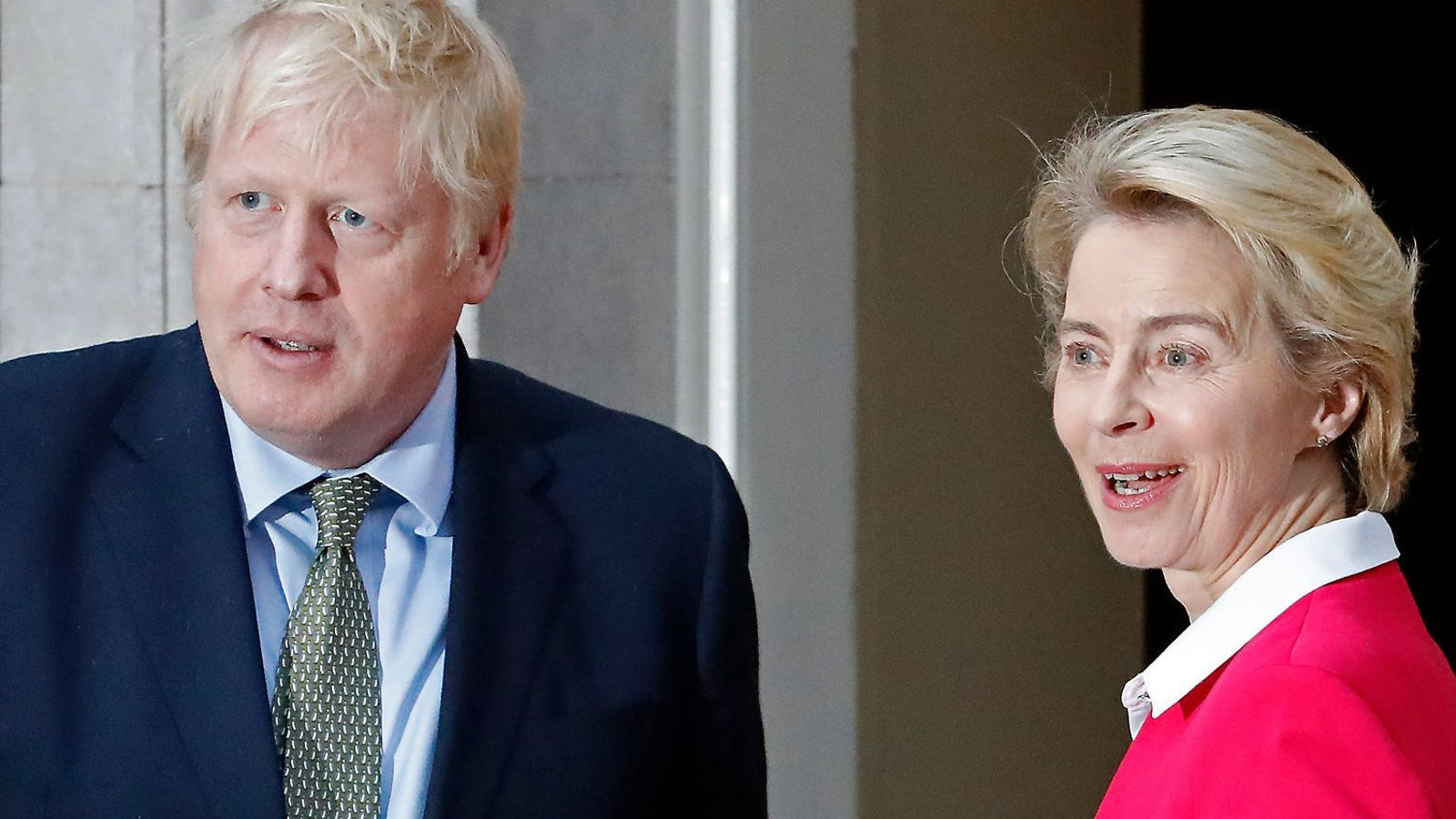 Boris Johnson i Ursula von der Leyen en una imatge d'arxiu.