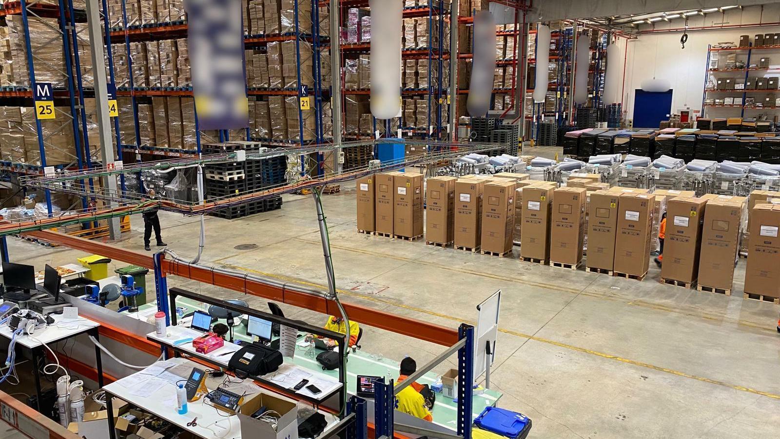 Imatge del nou centre d'operacions logístiques de materials pesats i de volum