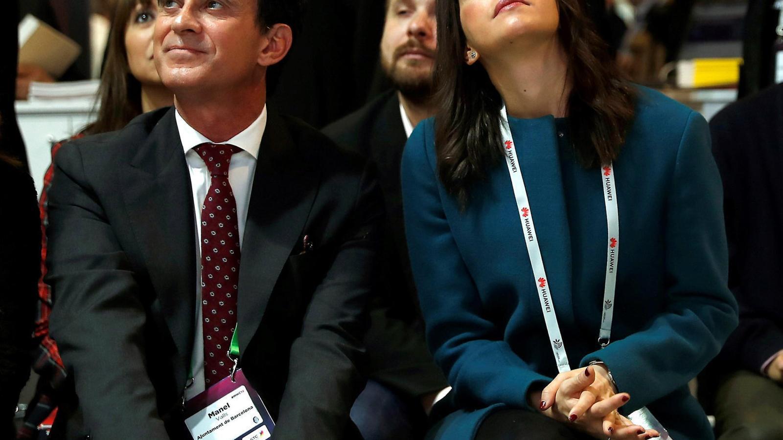 Manuel Valls i Inés Arrimadas en una imatge d'arxiu.