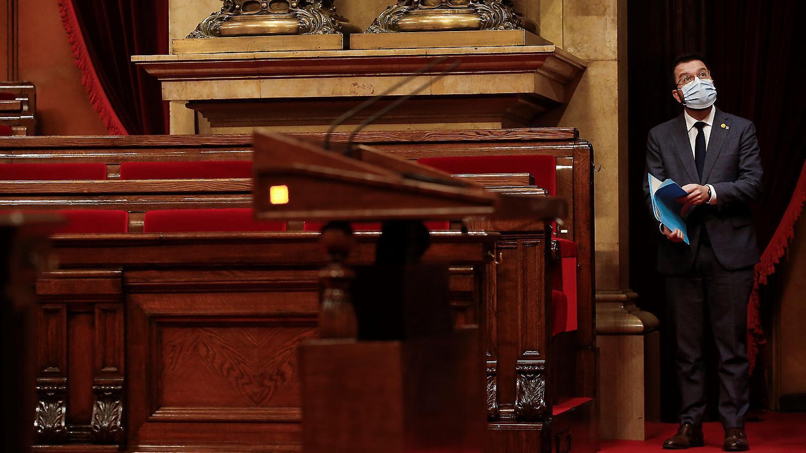 El vicepresident, Pere Aragonès, havia demanat que l'Estat autoritzés les comunitats a fer un dèficit de l'1%, però formalment Hisenda només ha acceptat un 0,2%.