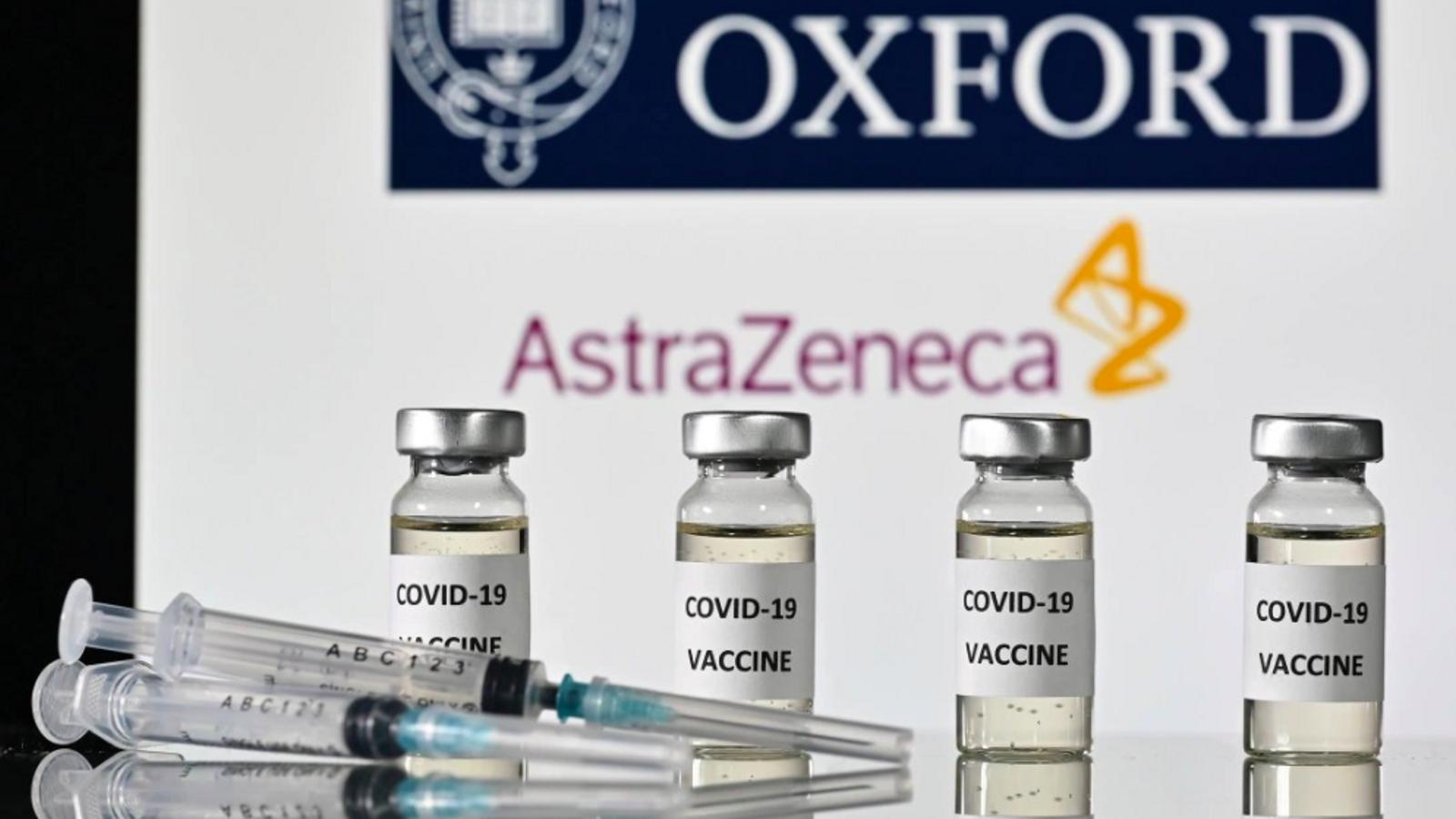Rrepresentació de la vacuna d'Oxford i AstraZeneva