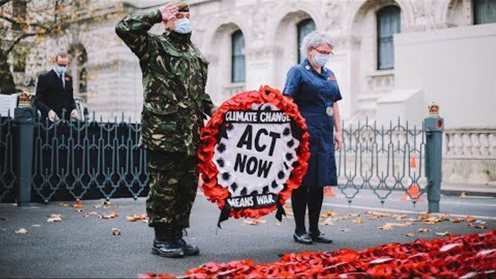 Protesta contra el canvi climàtic en el dia de l'Armistici